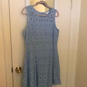 Charming Charlie's Light Blue Lace Dress